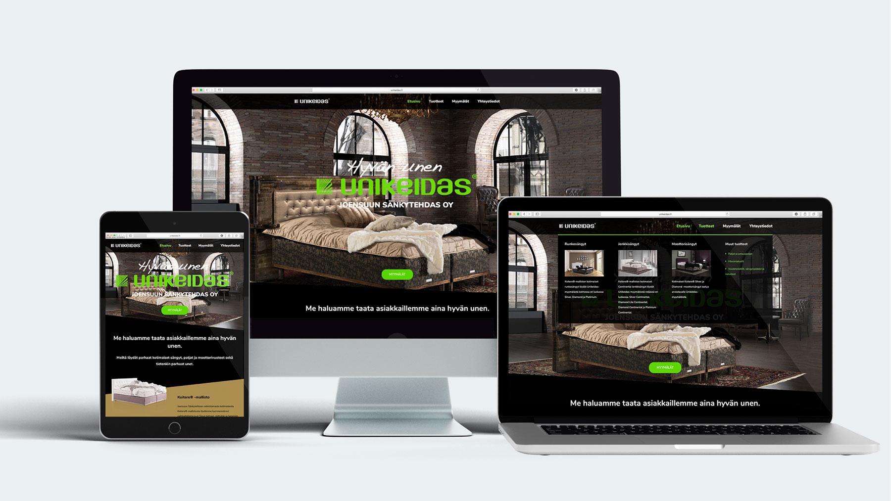 Antibox Unikeidas verkkosivut www