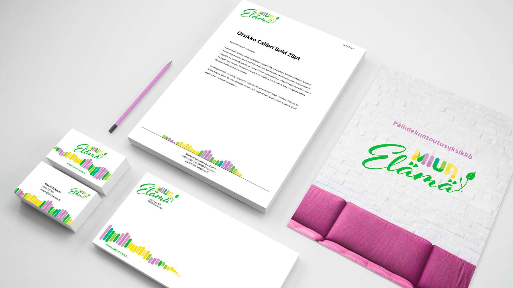 antibox miunelämä lomake käyntikortit kirjekuori